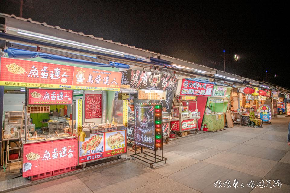 花蓮東大門夜市的小吃攤位選擇非常多