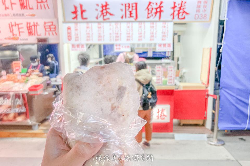 花蓮東大門夜市必吃小吃,北港潤餅捲