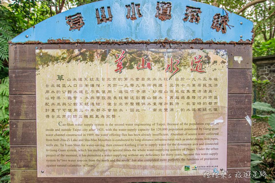 台北天母古道路水管路步道簡介