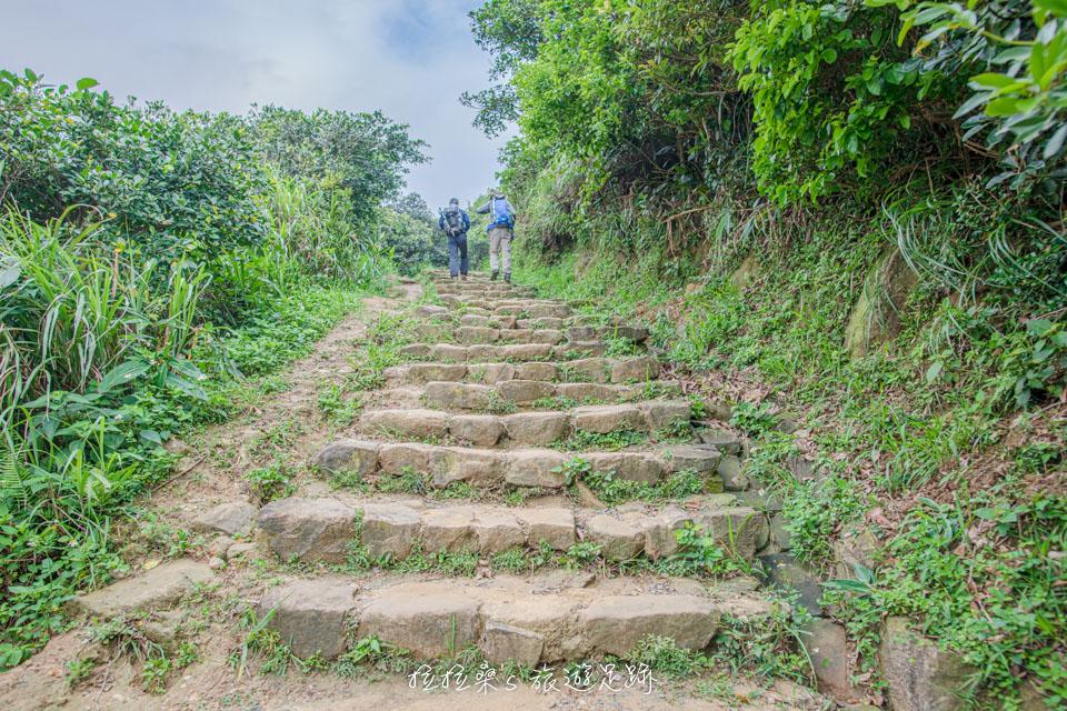 瑞芳南子吝步道後半段轉為泥土與石階路段