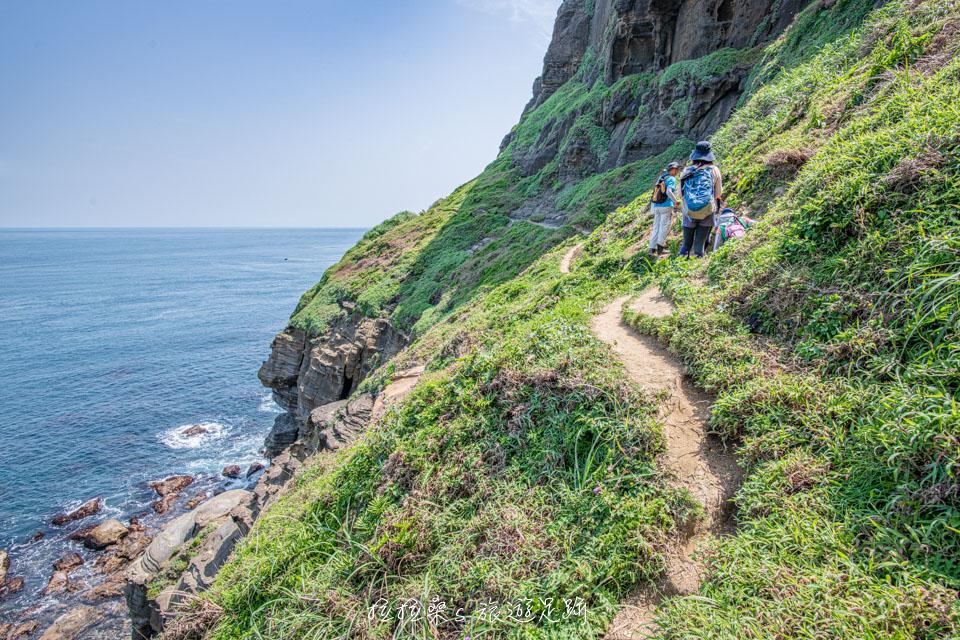 鼻頭角秘境上步道能以不同的角度來欣賞東北角海岸