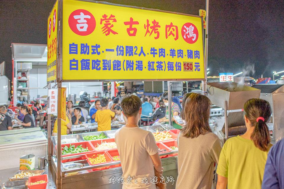 南投埔里城觀光夜市的小吃種類多、重複性不高