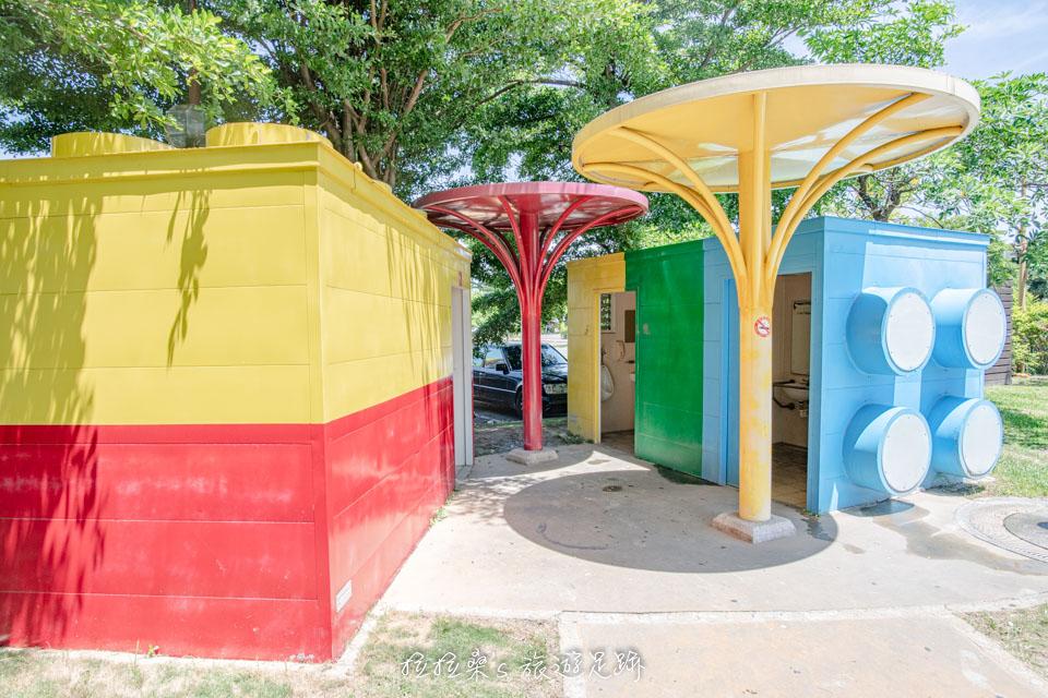 彰化鹿港鎮立兒童公園,溜滑梯、小沙坑,免費遛小孩的好去處,鄰近鹿港老街的小公園