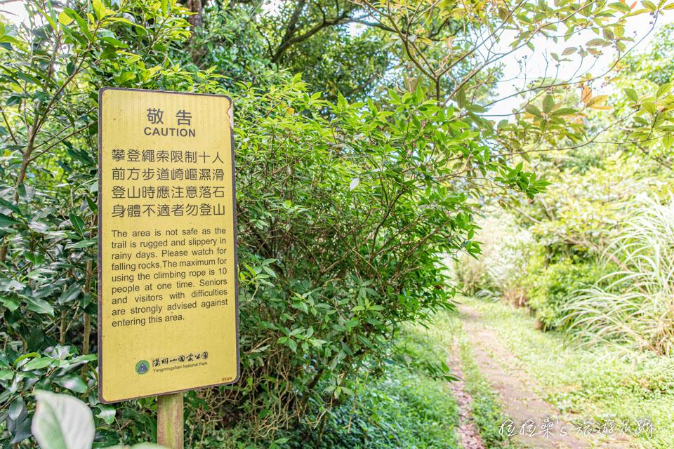 從大屯坪往南峰的步道是天然的泥土路面