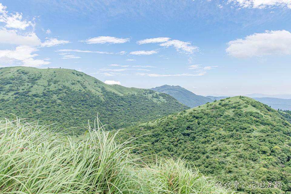 海拔985公尺的大屯山西峰視野不錯