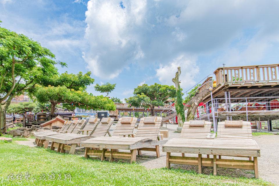 南投星月天空景觀餐廳的園區設計感覺悠閒又舒服