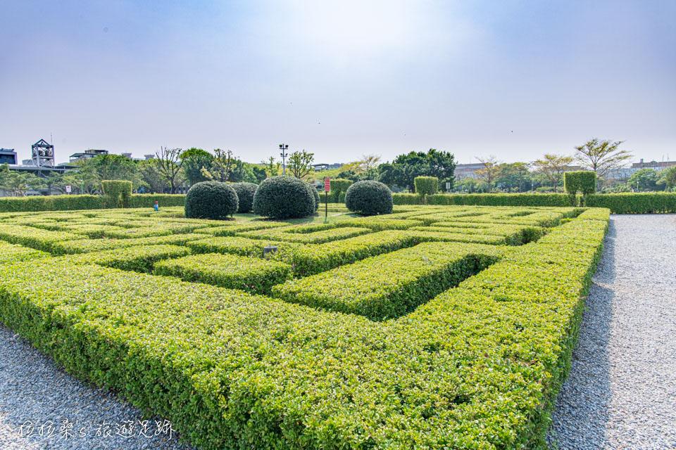 台北花博公園新生園區裡的花園迷宮好玩又好拍