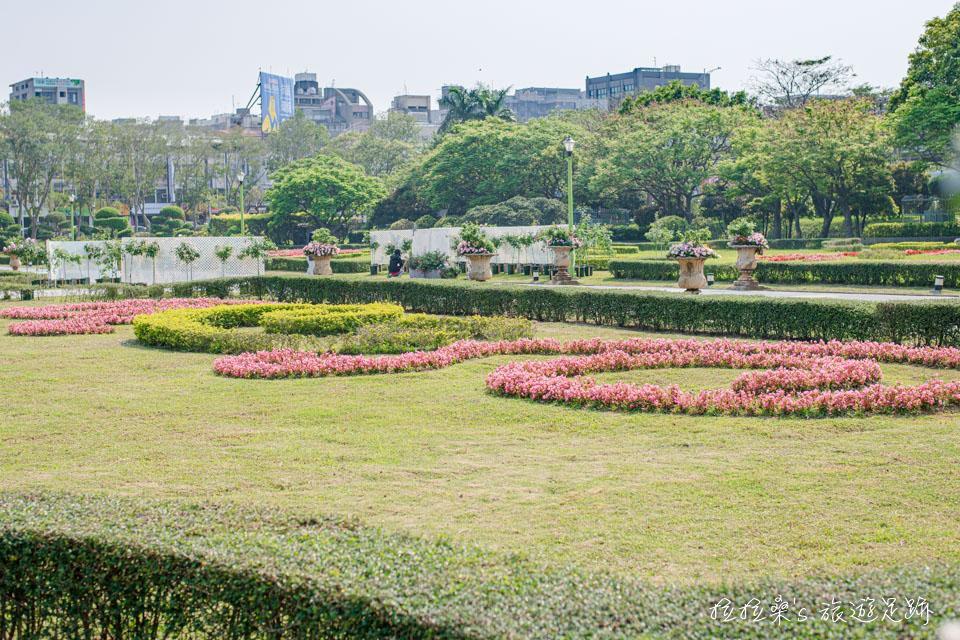 台北花博公園新生園區還有各種有趣的植物造景