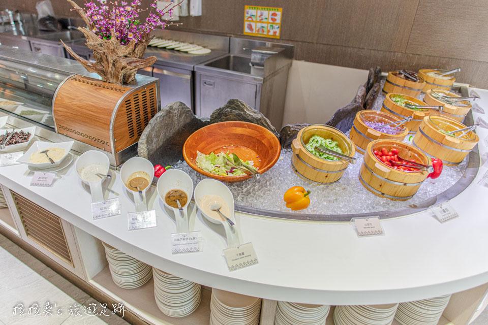 承萬渡假飯店的早餐豐富又美味