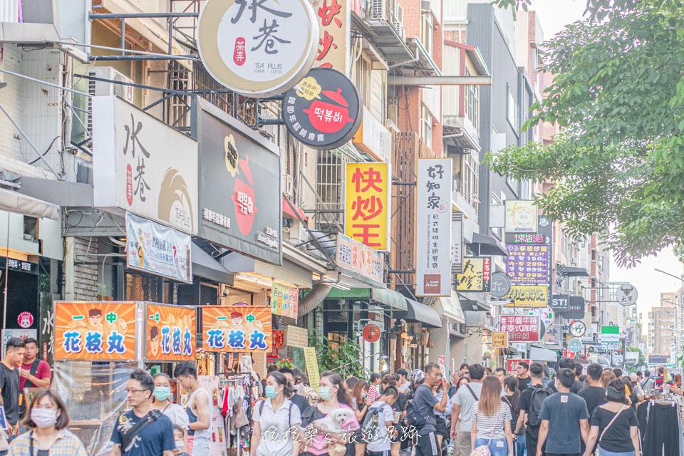 一中街的餐廳多數聚集在育才街跟育才北路之間