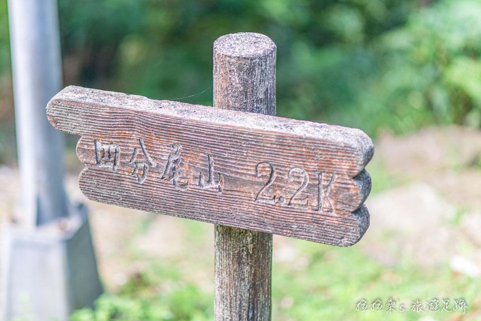 大尖山步道能繼續一路走往四分尾山